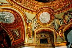 Ceiling art in Rome Stock Photos