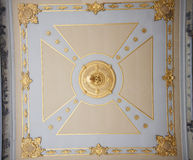 Ceiling artwork at Topkapi Palace in Istanbul Stock Image