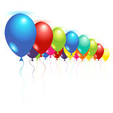 Ceiling balloons royalty free illustration