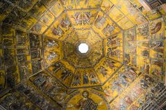 Ceiling of the Bapitsty of Saint John, Florence royalty free stock photos