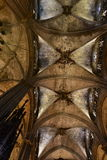 Ceiling of the Barcelona Cathedral, Spain. Royalty Free Stock Images