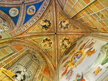 Ceiling of Baroncelli Chapel in Basilica di Santa Croce. Florence, Italy Royalty Free Stock Photo