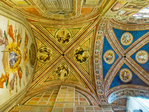 Ceiling of Baroncelli Chapel in Basilica di Santa Croce. Florence, Italy. Ceiling of Baroncelli Chapel in right transept of Basilica di Santa Croce. Florence Royalty Free Stock Image
