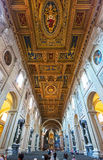 The ceiling of the Basilica di San Giovanni in Laterano, Rome Stock Image