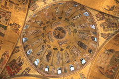 Ceiling of Basilica di San Marco in Venice, Italy Stock Image