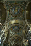 Ceiling of basilica the fourviere Royalty Free Stock Images