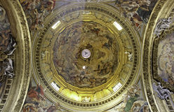 Ceiling of Basilica Il Gesu, Rome Stock Photo