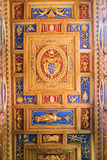 Ceiling in Basilica of Saint John Lateran in Rome, Italy. Royalty Free Stock Photo