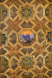 Ceiling in Basilica of Santa Maria in Trastevere, Rome Stock Photo