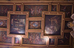 Ceiling of  Basilica of St. Bartholomew on the Island Royalty Free Stock Photography