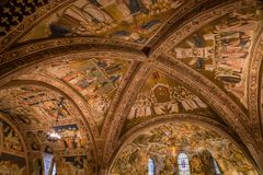 Ceiling Of Basilica Of St.Francis of Assisi- Italy royalty free stock images