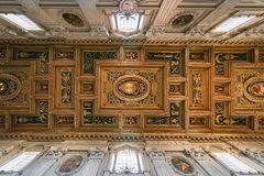 The ceiling of the Basilica of St. Giovanni in Rome Basilica St stock images