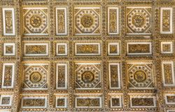 Ceiling in Basilica of St. Peter, church in Vatican, Rome. royalty free stock photos