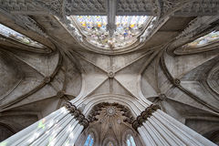 Ceiling in Batalha monastery Royalty Free Stock Images