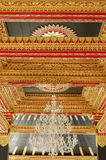 Ceiling with beautiful ornament in Yogyakarta Sultanate Palace Royalty Free Stock Photography