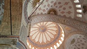 Ceiling of Blue Mosque in Istanbul stock video