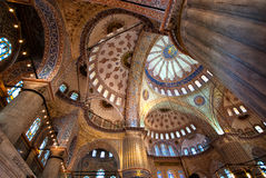 Ceiling of the Blue Mosque. Istanbul, Turkey Royalty Free Stock Images