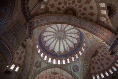 Ceiling of Blue Mosque Royalty Free Stock Photography