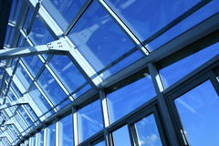 Ceiling of a building of office. Glass ceiling of the big modern building Royalty Free Stock Photos