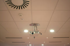 Ceiling camera Royalty Free Stock Photography