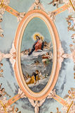 Ceiling of Carmelite Priory and Church, Mdina Royalty Free Stock Photos