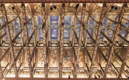 The ceiling in the castle Stockholm City Hall meetings. Stockholm. Sweden royalty free stock photos