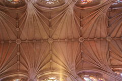 Ceiling in Cathedral Stock Photography