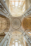Ceiling Cathedral of Cordoba Stock Photos