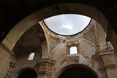 Ceiling of the Cathedral de Santiago. Destroyed by an earthquake, Antigua, Guatemala Stock Images