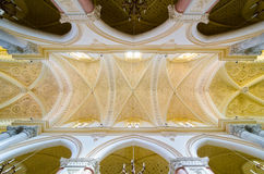 Ceiling in the Cathedral of Erice, Santa Maria Assunta, Chiesa Madre. Sicily, Italy. Royalty Free Stock Photography