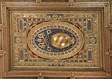 Ceiling. Of the Cathedral of San Giovanni in Rome Stock Photography