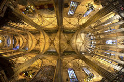 Ceiling of the Cathedral of Santa Eulalia in Barcelona Stock Photography