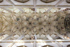Ceiling in cathedral of st. Barbara Stock Photos