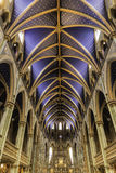 Ceiling of a catholic church Stock Photo
