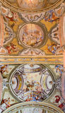 Ceiling of chapel in Saint Anton palace Royalty Free Stock Photo