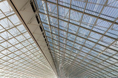Ceiling of Charles de Gaulle airport in Paris Stock Photo