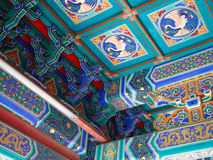 Ceiling of Chinese palace Royalty Free Stock Photography