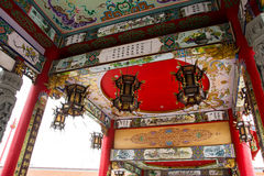 Ceiling of Chinese Temple royalty free stock photography