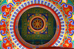 Ceiling in Chinese Temple, Thailand. Looking up on the ceiling of chinese Temple in Bangkok, Thailand Royalty Free Stock Photos