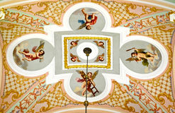 Ceiling in church Royalty Free Stock Photo