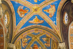 Ceiling of the Church of Saint Mary above Minerva I. ROME-OCT 3: Ceiling of the Church of Saint Mary above Minerva I on October 5, 2010. As a top business Stock Image