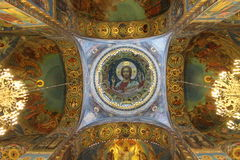 Ceiling of  Church of the Savior on Blood in Saint Petersburg Stock Images