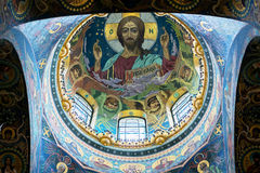 Ceiling of the Church of the Savior on Spilled Blood, St Petersb Stock Photos