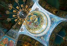 Ceiling of Church of the Savior on Spilled Blood, St Petersburg Stock Photos