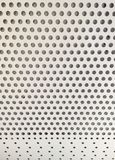 white metal background with holes royalty free stock photography