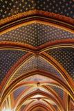 Ceiling construction in Sainte Chapelle, Paris Stock Photography