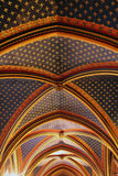 Ceiling construction in Sainte Chapelle, Paris Stock Photography