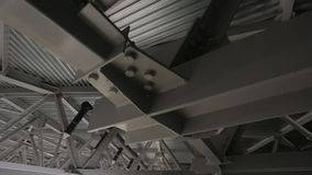Ceiling construction stock video footage