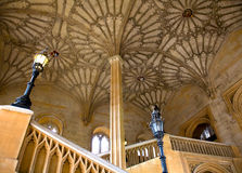 Ceiling of courtyard, Christ Church College, Oxford Royalty Free Stock Images