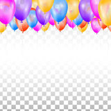 Ceiling Covered in Balloons on transparent background Stock Photos